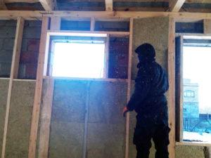 Утепление стен дома минераловатой по обрешетке